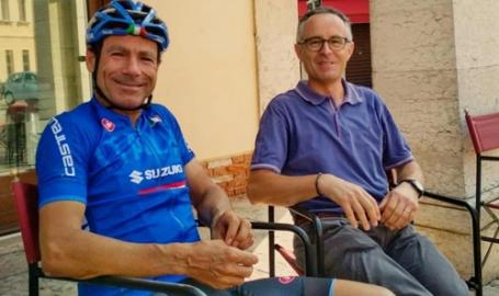 Dietro la visita in bici di Cassani ad Asollo: la perlustrazione del ct della nazionale in vista di qualche spettacolare novità nella Marca