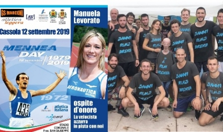 Mennea Day a Cassola con la sprinter Manuela Levorato: in pista anche Sammy Basso sospinto sulla joelette dagli amici runner. Attesa l'olimpionica Campana. Video e foto